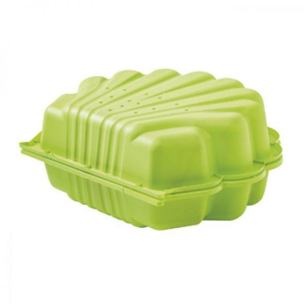 groene zandbak schelp