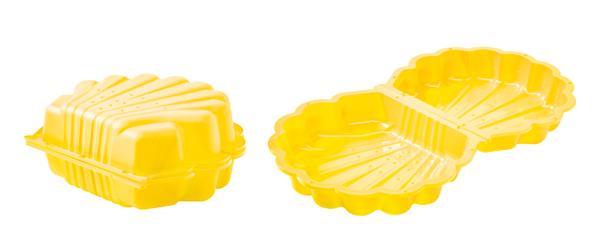 Zandbak schelp geel