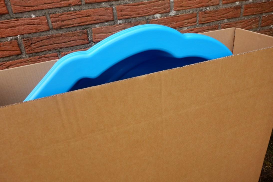 zandbak schelp in doos verpakking
