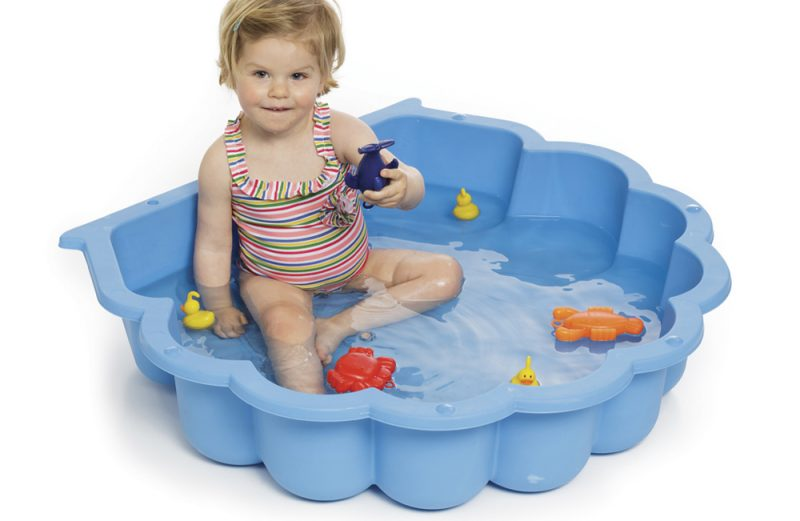 zandbak schelp kinderzwembad