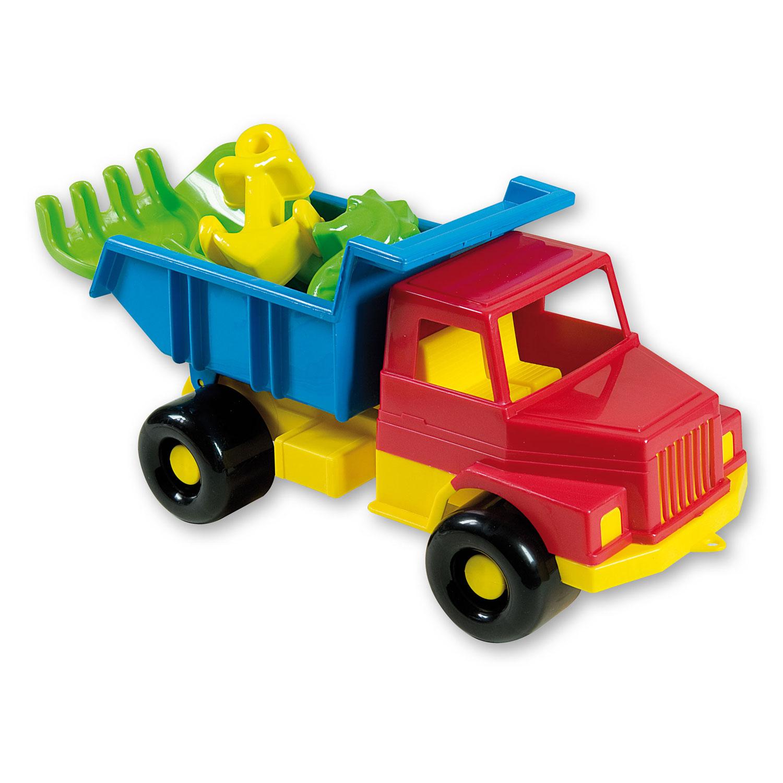 zandbak speelgoed kiepwagen met accessoires